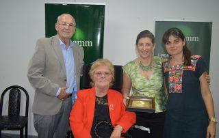 Gustavo Hirsch, Martina Antonini, María José Fattore y Paula (hija de Ana María Menéndez)